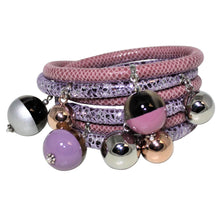 Load image into Gallery viewer, Italian Wrap Leather Bracelet With Lacquer Buffalo Horn Charms