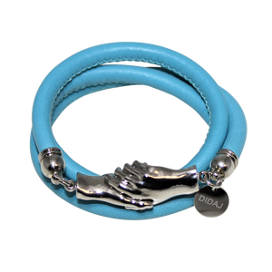 Italian Wrap Leather Bracelet With Magnetic Hands - DIDAJ