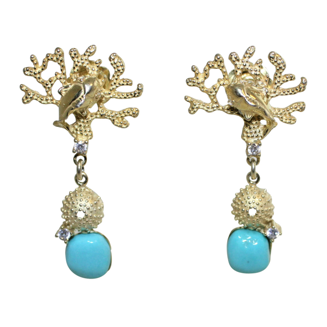 Italian Turquoise Earrings - DIDAJ
