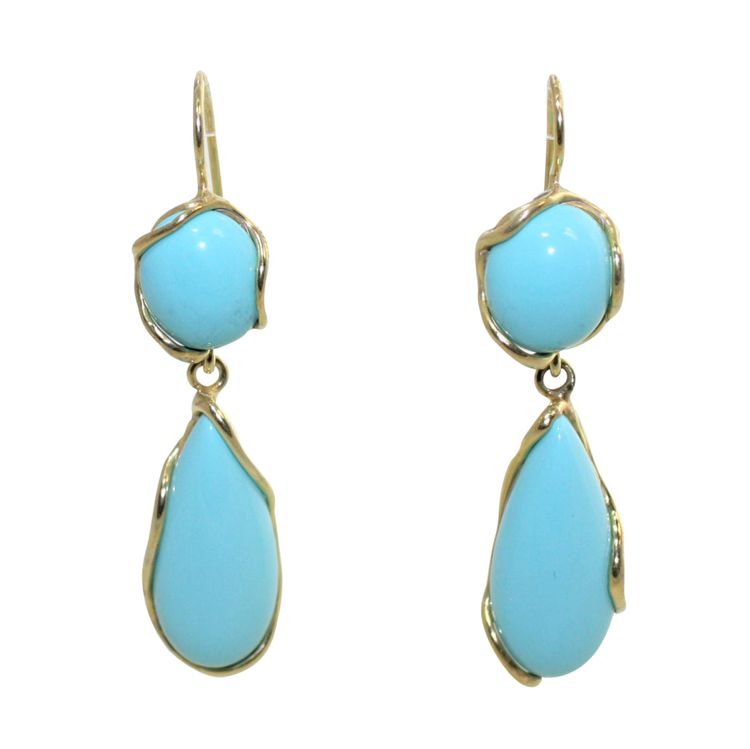 Italian Teardrop Turquoise Earrings - DIDAJ