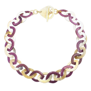 Horn Necklace in Dye Lacquer Color