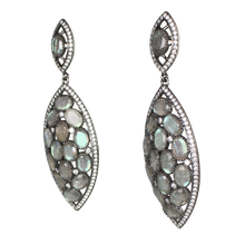 Load image into Gallery viewer, Faceted Labradorite Earrings
