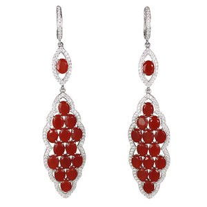 Long Faceted Carnelian Earrings - DIDAJ