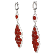 Load image into Gallery viewer, Long Faceted Carnelian Earrings - DIDAJ