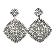 Load image into Gallery viewer, Faceted Labradorite Pave Earrings - DIDAJ
