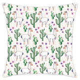 Aplaca And Cactus Throw Pillow Cover