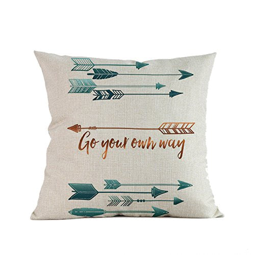 Arrow Printing Throw Pillow Cover