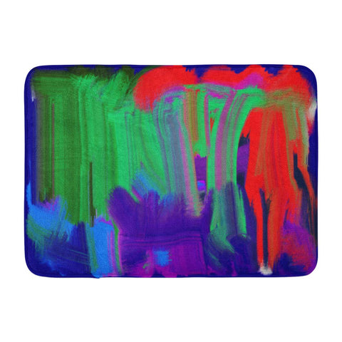 Abstract Acrylic Art Artist Artistic Bath Mats