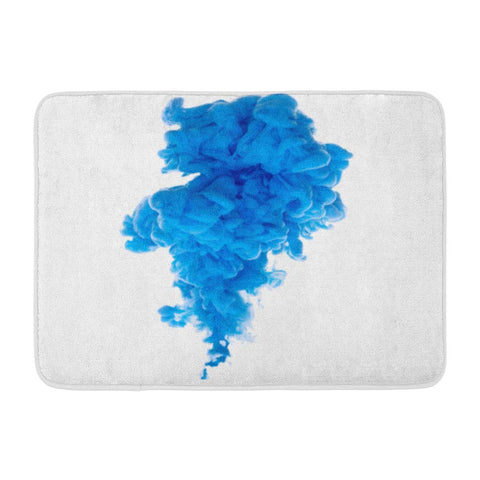 Abstract Cloud Ink Swirling Water White Bath Mats