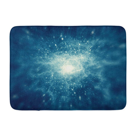 Abstract Explosion Light Universe Blue Space Galaxy Bath Mats