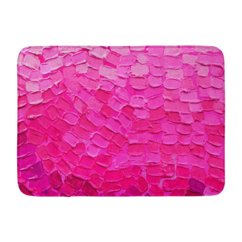 Abstract Art Oil Canvas Multicolored Bright Color Bath Mats