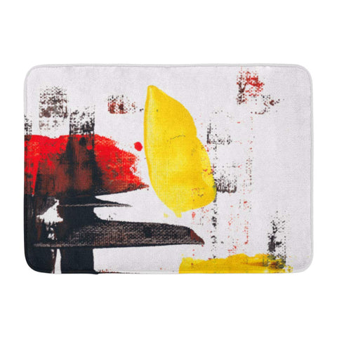 Abstract Acrylic Knife Art Modern Artistic Bath Mats