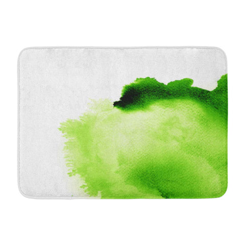 Abstract Green Watercolor Water Color Bath Mats