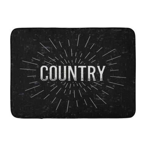 Abstract Creative Layout with Country Vintage Art Retro Bath Mats