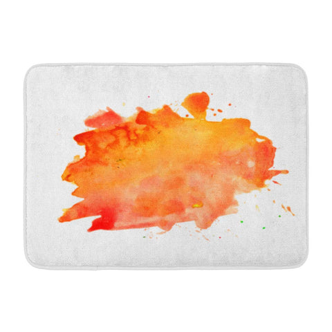 Abstract Colorful Watercolor Stain Grunge Color Water Red Bath Mats