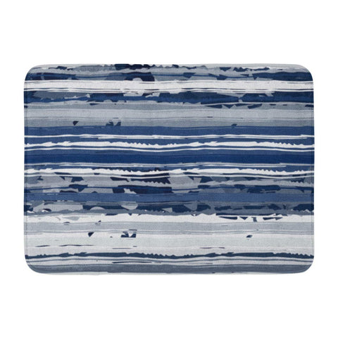 Abstract Art Distressed Watercolor Brush Strokes Camo Bath Mats