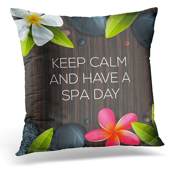 Aromatherapy Keep Calm and Have Spa Day Healthcare Throw Pillow Cover