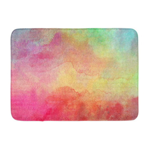 Abstract Colorful Water Color Watercolor Red Green Blue Wet Bath Mats
