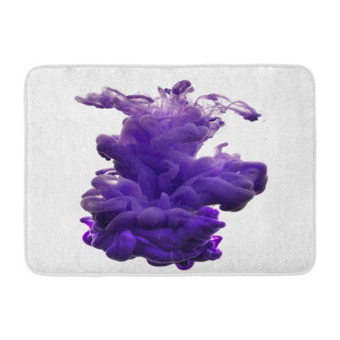 Abstract Color Water Ink Smoke Purple Explosion Bath Mats