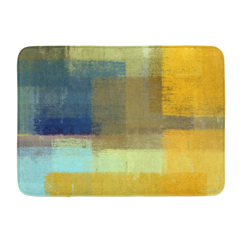 Abstract Grunge Art Modern Oil Aged Ancient Artistic Bath Mats