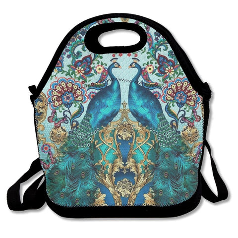 Accessories Elegant Peacock Lunch Bags