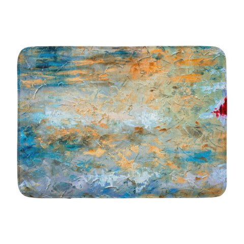 Abstract Art Oil Canvas Color Spots Modern Bath Mats