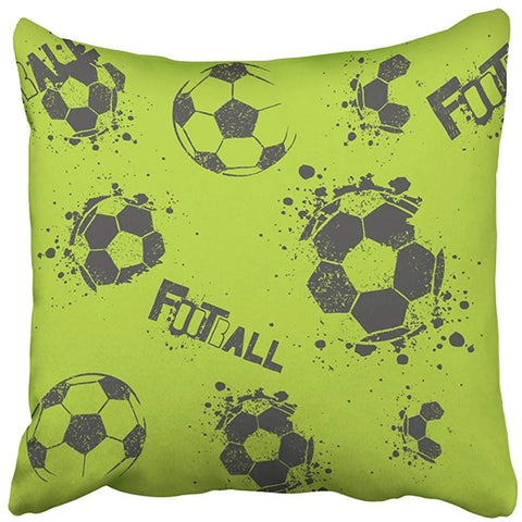 Abstract Boys Urban Football Modern Throw Pillow Cover