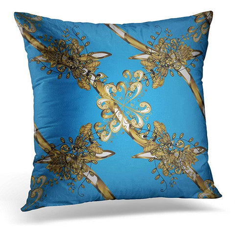 Alloys Floral Brocade Glass Metal Throw Pillow Cover