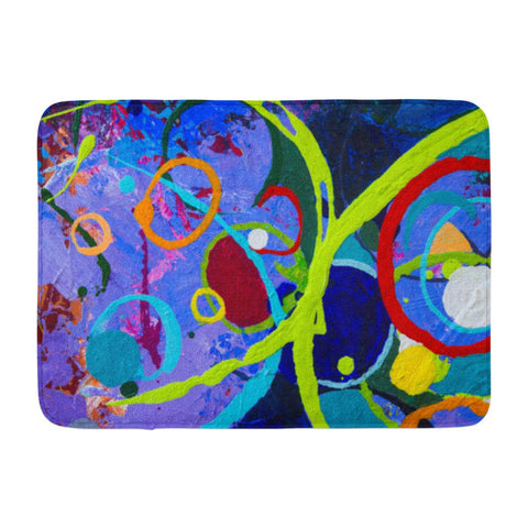 Abstract Art Oil and Acrylic Color Canvas Modern Bath Mats