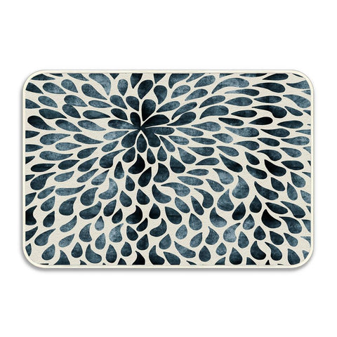 Abstract Flower Petals Floral Bath Mats