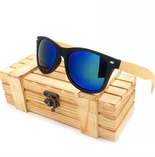 BOBO BIRD Sunglasses With Bamboo Legs Mirrored Polarized