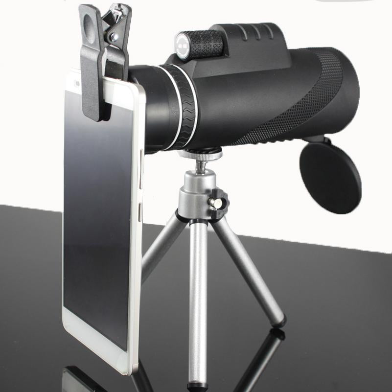 MONOCULAR HIGH POWERED TELESCOPE W/ NIGHT VISION AND SMARTPHONE ATTACHMENT