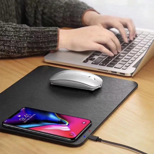 WIRELESS PHONE CHARGING MOUSE PAD FOR IPHONE & ANDROID