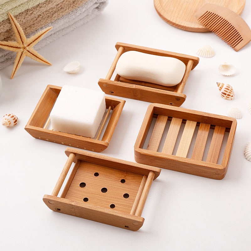 Portable Soap Dishes, Creative Japanese Bamboo Style