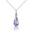 WARME FARBEN SWAROVSKI CRYSTAL NECKLACE IN STERLING SILVER