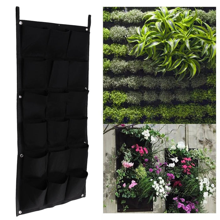 18 POCKETS VERTICAL GARDEN BALCONY FLOWER PLANTER