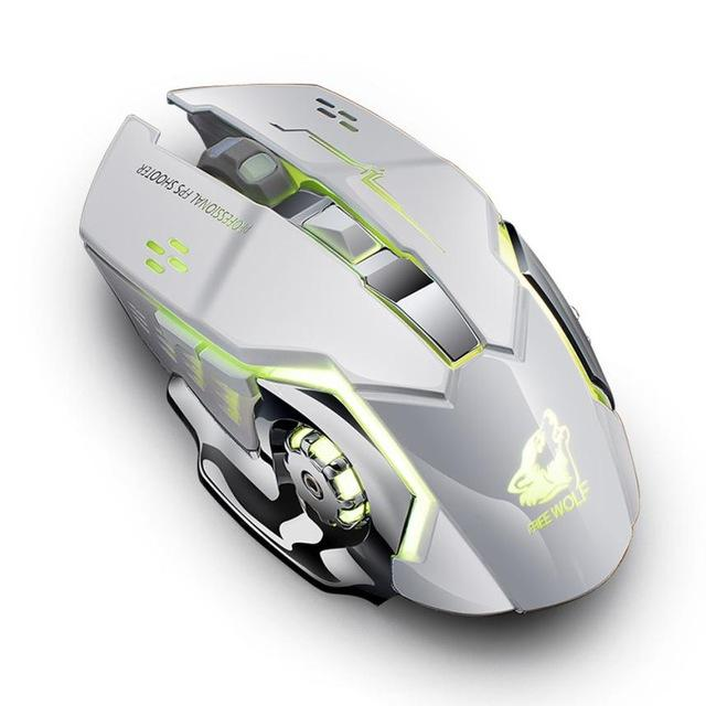 X8 WIRELESS SILENT RECHARGEABLE GAMING MOUSE