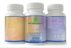 Anxiety & Calmness CBD Capsules (1200mg) - Better Wellness Supplements