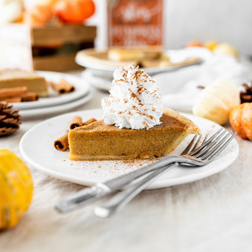 Vegan Gluten-Free Nut-Free Pumpkin Pie with Coconut Whipped Cream