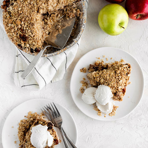 Gluten-Free Nut-Free Dairy-Free Vegan Apple Crumble Pie