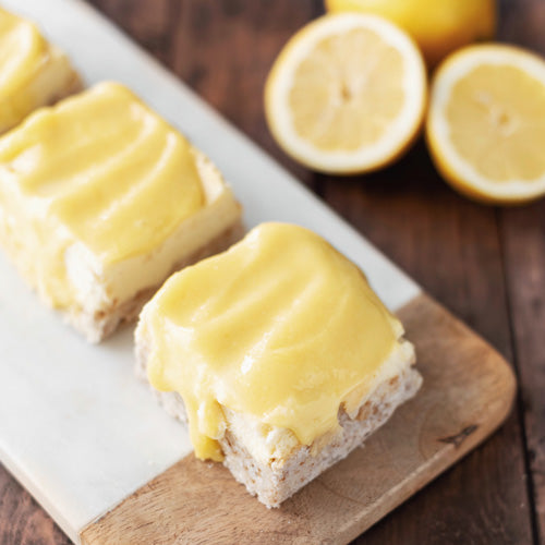 Gluten-Free Nut-Free Lemon Curd Cheesecake Bar