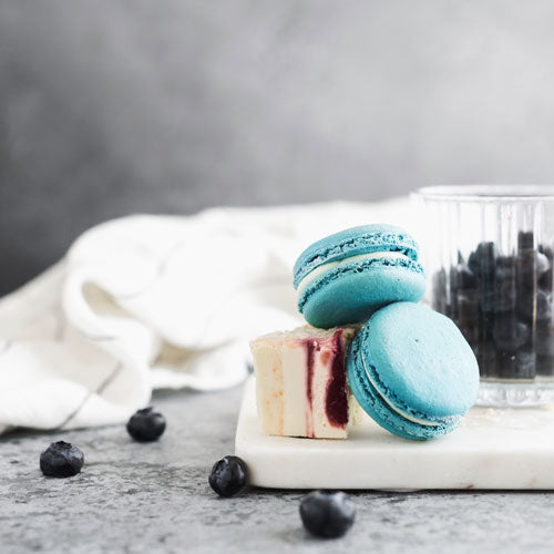 Gluten-Free Nut-Free Blueberry Cheesecake French Macarons Toronto