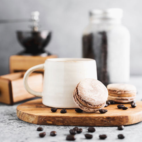 Gluten-Free Nut-Free Cappuccino French Macarons Toronto