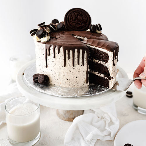 Gluten-Free Nut-Free Vegan Cookies and Cream Cake