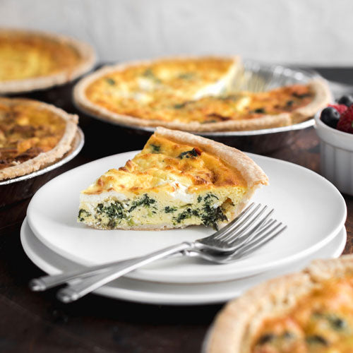Gluten-Free Nut-Free Spinach, Goat Cheese and Sundried Tomato Quiche