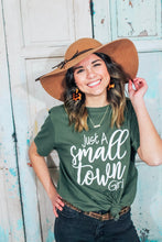 Load image into Gallery viewer, Women's just a small town girl graphic tee