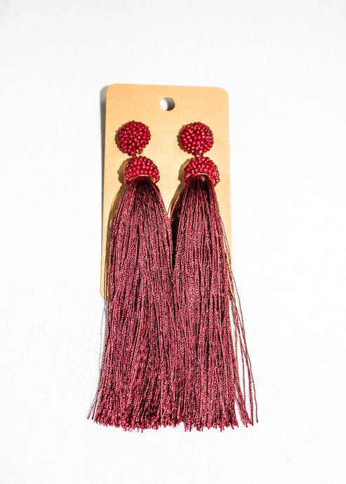 women's tassel earrings