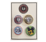 NICKEL AND DIME: NICKEL AND DIME LOGOS PIN SET