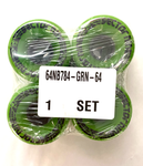 Sector 9 Nineball opaque green 64mm 78a set of 4
