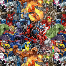 Load image into Gallery viewer, DECEMBER RETAIL - Superhero Scramble LARGE SCALE - Cotton Lycra and Cush ONLY